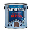 Homebase Weathercoat Rustic Brown - Exterior Gloss Paint - 2.5L