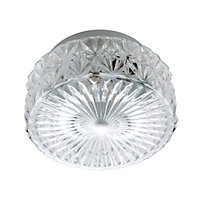 Oceanus Glass Flush Light - White - 19cm
