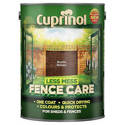 Image for Cuprinol Less Mess Fencecare -Rustic Brown- 5L from StoreName