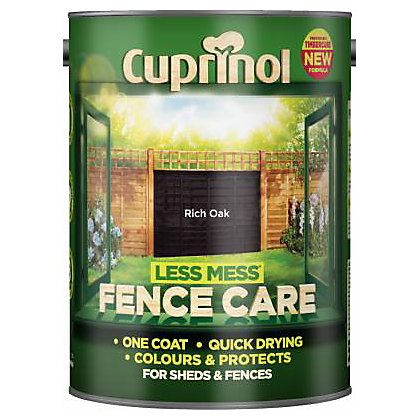 Image for Cuprinol Less Mess Fencecare- Rich Oak- 5L from StoreName