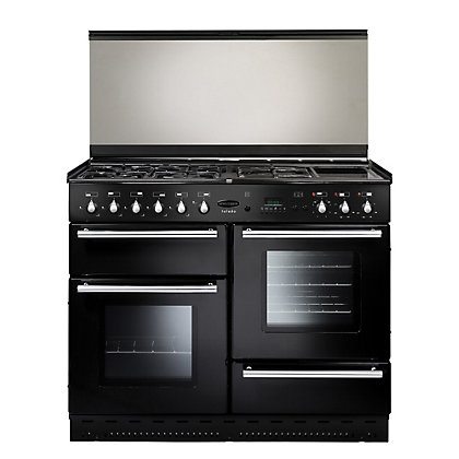 Image for Rangemaster 73100 110cm Dual Fuel Cooker - Black & Chrome from StoreName