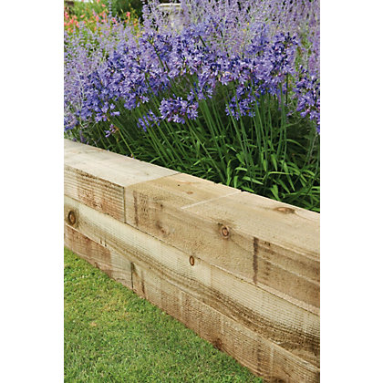 Image for Forest Non Creosote Railway Sleeper - 4ft from StoreName