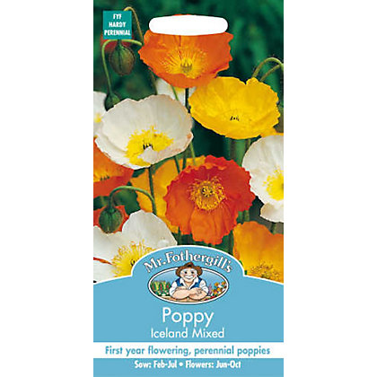 Image for Poppy Iceland Mixed (Papaver Nudicaule) Seeds from StoreName