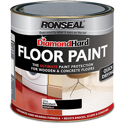 Image for Ronseal Diamond Hard Black - Floor Paint - 2.5L from StoreName