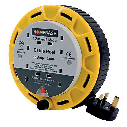 Image for 4-Socket Cable Reel - 5m from StoreName