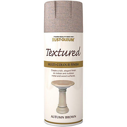 Image for Rust-Oleum Textured Spray Paint - Autumn Brown - 400ml from StoreName