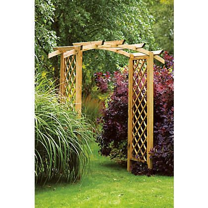 Forest genoa garden arch for Garden decking homebase