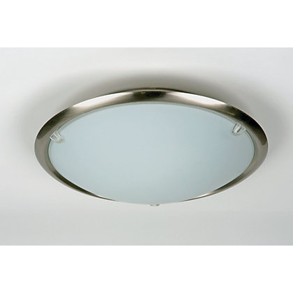 Image for Metal Rim Flush Light - Brushed Chrome Effect from StoreName