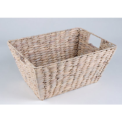 Image for Small Water Hyacinth Basket - White from StoreName