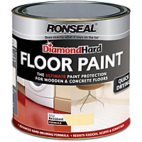 Ronseal Diamond Hard Cream - Floor Paint - 750ml