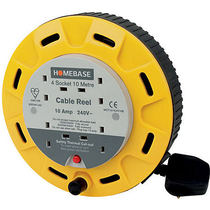 Image for 4-Socket Cable Reel - 10m from StoreName
