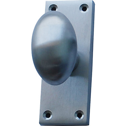 Image for Oval Door Knob - Satin Chrome from StoreName