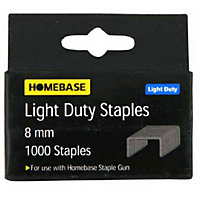 Light Duty Staples - 8mm - 1000 Pack