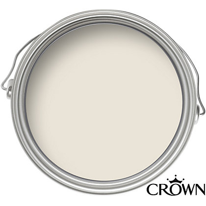 Image for Crown Breatheasy Beige White - Non Drip Satin Paint - 750ml from StoreName
