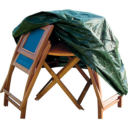 Image for Small Round Garden Patio Set Cover - Green from StoreName