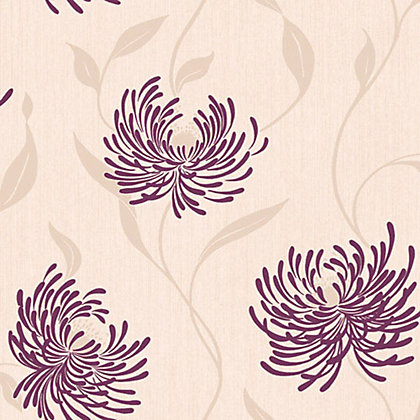 Image for Crown Lola Wallpaper - Plum from StoreName