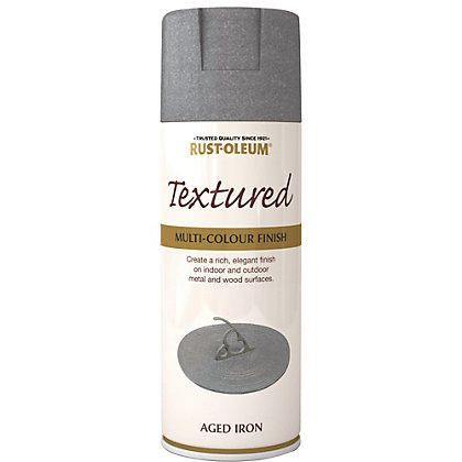Image for Rust-Oleum Textured Spray Paint - Aged Iron - 400ml from StoreName