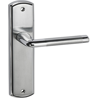 Image for Alina Lever Latch Door Handle - Satin and Polished Chrome from StoreName