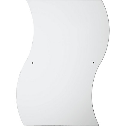 Image for Unframed Curvy Drilled Mirror from StoreName