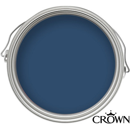 Image for Crown Solo Oxford Blue - One Coat Gloss Paint - 750ml from StoreName