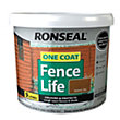 Ronseal One Coat Fence Life Medium Oak - 9L