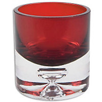 Bubble Base Tea light Holder  - Red  - 6.5cm