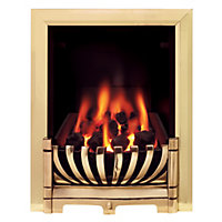 Ascott Brass Gas Inset Fire