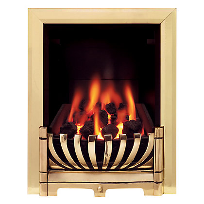 ascott brass gas inset fire. Black Bedroom Furniture Sets. Home Design Ideas
