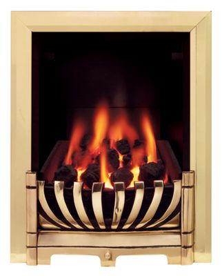 ascott brass gas inset fire yakinyx. Black Bedroom Furniture Sets. Home Design Ideas