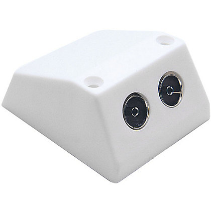 Image for Homebase - Surface Mounted TV Socket - Double from StoreName