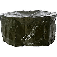 Medium Oval Garden Patio Set Cover - Black