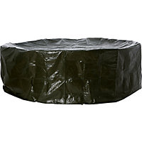 Large Oval Garden Patio Set Cover - Black