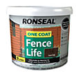 Ronseal One Coat Fence Life Dark Oak - 9L