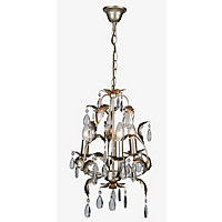 Cristallo 3 Light Fitting - Antique Brass