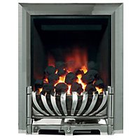 Ascott Chrome Gas Inset Fire