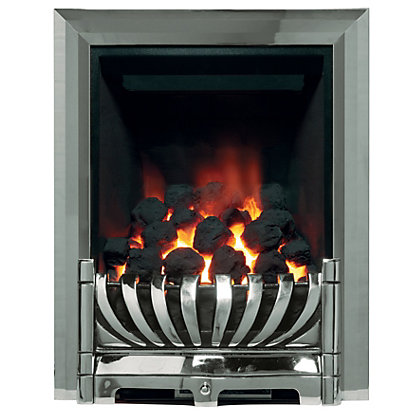 ascott chrome gas inset fire. Black Bedroom Furniture Sets. Home Design Ideas
