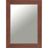 Stafford Freestanding Single Framed Mirror Cabinet - Walnut