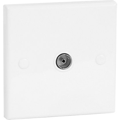 Image for Homebase - Flush Mounted TV Socket - Single from StoreName