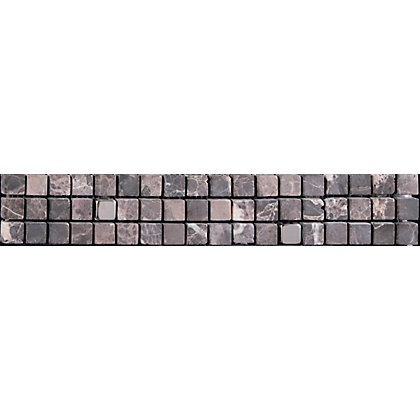 Image for Atlas Mosaic Strip Wall Tile - Maroon - 305 x 49mm - 4 Pack from StoreName