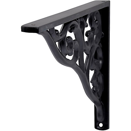 Image for Duraline Classic Baroque Bracket - Black - Large from StoreName