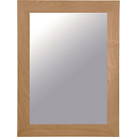 Stafford Freestanding Single Framed Mirror Cabinet - Oak