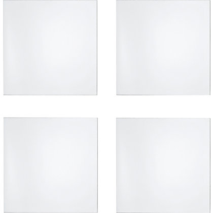 Image for Unframed Pack of 4 Polished Edge Mirror Tiles from StoreName