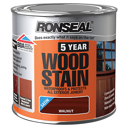 Image for Ronseal 5 Year Woodstain Walnut - 250ml from StoreName