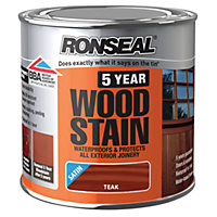 Ronseal 5 Year Woodstain Teak - 250ml