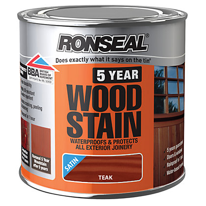 Image for Ronseal 5 Year Woodstain Teak - 250ml from StoreName