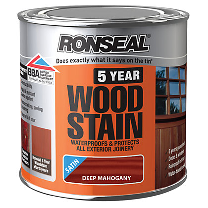 Image for Ronseal 5 Year Woodstain Deep Mahogany - 250ml from StoreName