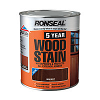 Ronseal 5 Year Woodstain Walnut - 750ml