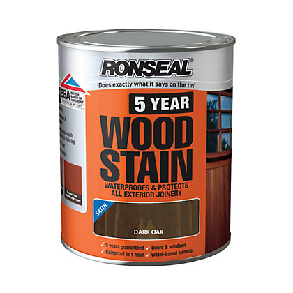 Image for Ronseal 5 Year Woodstain Dark Oak - 750ml from StoreName