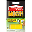 Unibond No More Nails Removable Strips - White - 10 piece x 20mm x 40mm
