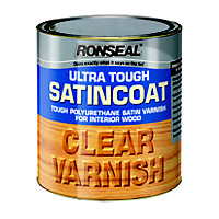 Ronseal UltraTough Satin Coat Clear Varnish - 250ml